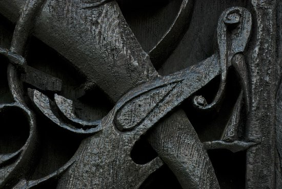 Carvings at Urnes Stave Church