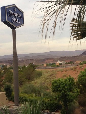 Hampton Inn St. George: July 2014 - view of the St. George Temple from our room