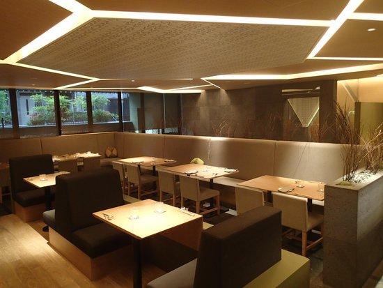 Hotel Kanra Kyoto: Restaurant moderne.