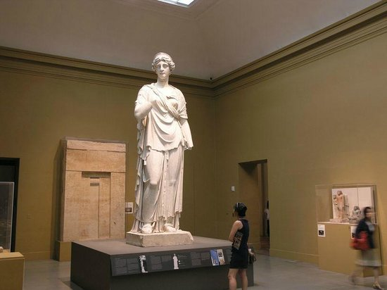 Museum of Fine Arts: One tall lady