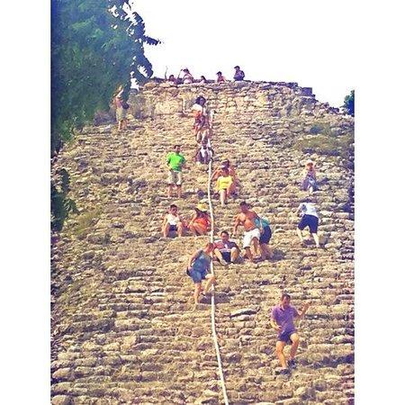Ruinas de Coba: coba main pyramid