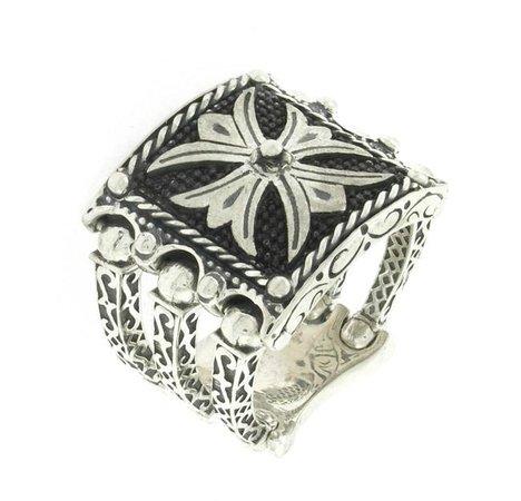 Oneiro Jewelry: Handmade with crusader's cross on Ring