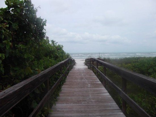 Sanibel Siesta on the Beach : The walkway from the condo to the beach