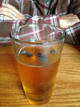 Stress Free Moose Pub & Cafe: Maine blueberry beer on draft !