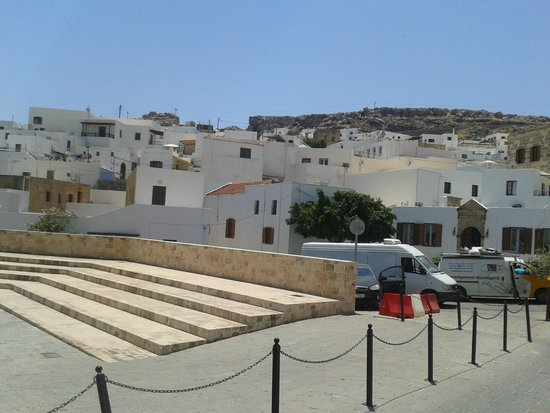 Lindos : same rooftop view