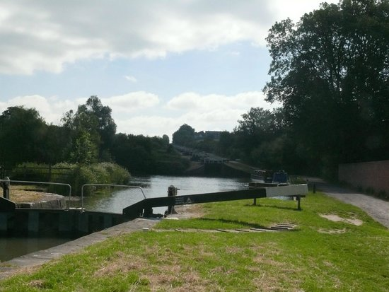 The Caen Hill locks from the bottom