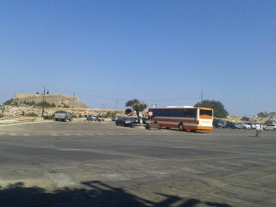 Lindos: bus terminus