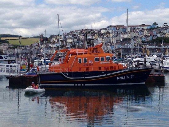 Torbay RNLI boat at Brixham Harbour