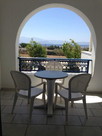 Cycladic Islands Hotel : The balcony & view.