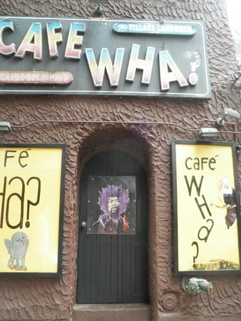 Real New York Tours: Cafe Wha? in Greenwich Village-famous start for Bob Dylan, Jimi Hendrix and more