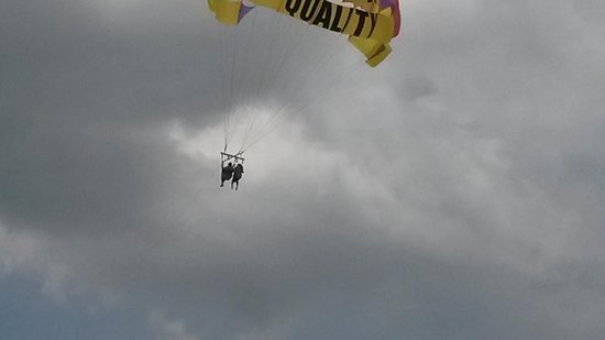 Premium Parasail Jamaica: Up in the air... This was from my camera,, not the good pics that the photographer took