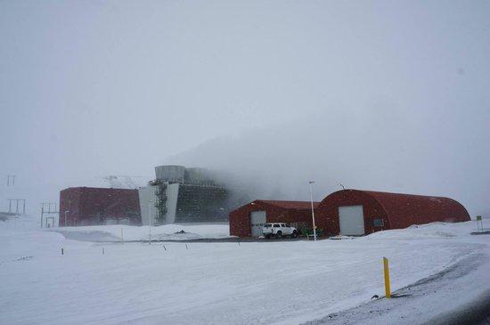 Krafla Lava Fields: A massive power plant.