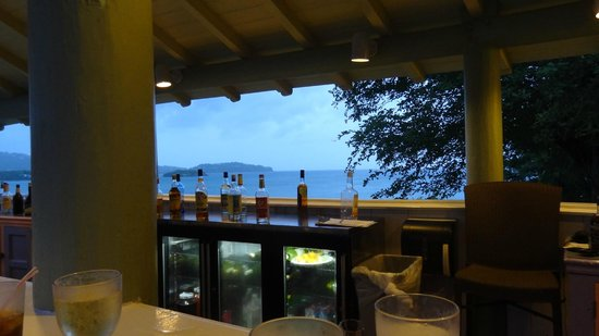 St. James's Club Morgan Bay: view from tommy's bar
