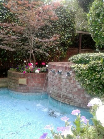 Bedford Hotel: Garden Water feature [smoking area]