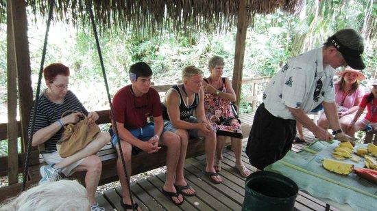 Carambola Botanical Gardens & Trails: end of the tour, fresh fruit