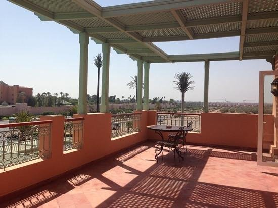 Sofitel Marrakech Palais Imperial : our balcony