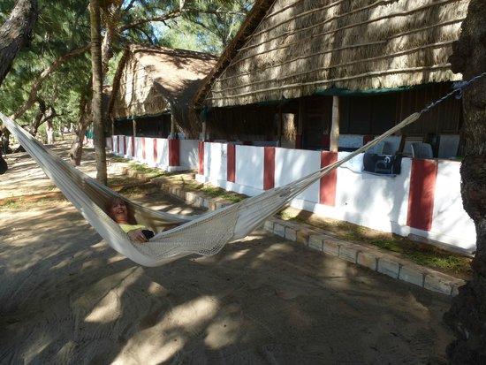 Nordin's Lodge: Zie me dat eens... plots een hangmat voor onze bungalo