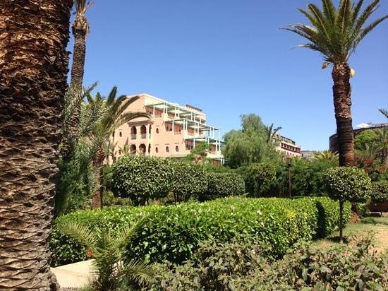 Sofitel Marrakech Palais Imperial: top floor was our balcony, room 487