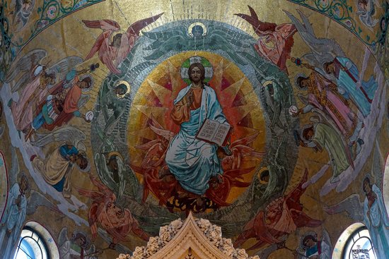 Church of the Savior on Spilled Blood: Mosaic in the apse, Church of Our Savior on Spilled Blood