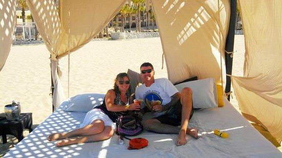 Pueblo Bonito Pacifica Resort & Spa: beach bed, aka cabana...awesome day!