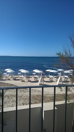 Hotel La Spiaggia : Vista della spiaggia dalla camera
