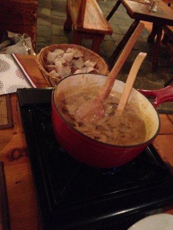 Hotel Les Autanes : Excellente fondue aux cèpes