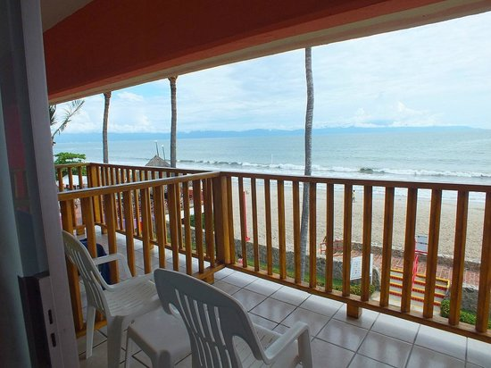 Royal Decameron Complex: View from my room on 3d floor of Block 1 looking at the Pacific Ocean.