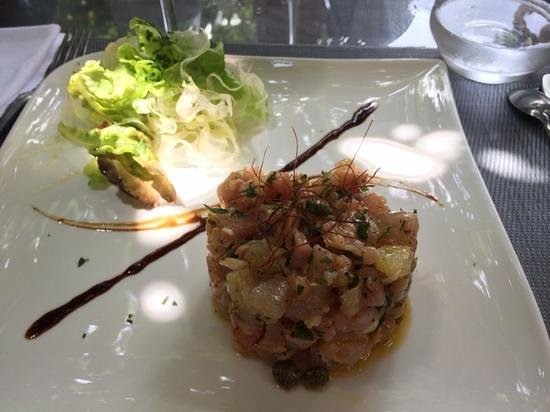 Restaurant Morganti: tartare de poisson