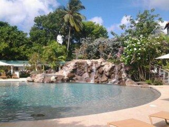 Radisson Grenada Beach Resort : Oh the waterfall one of two