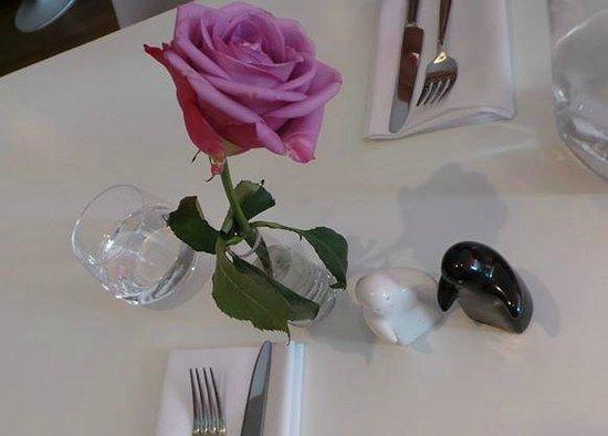 The Rose Garden: Table setting.