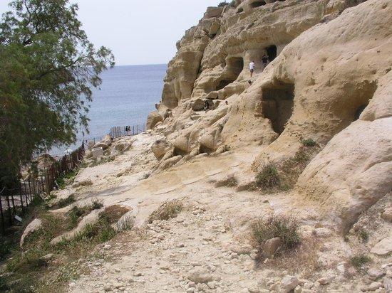 Matala beach : La rupe