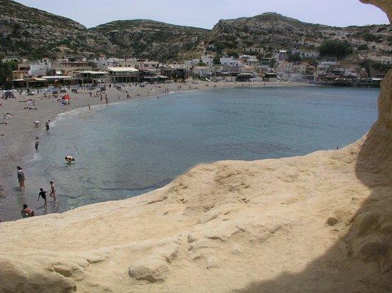 Matala beach: Scorcio della spiaggia