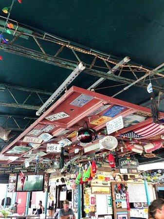 Island Time Pub: above the bar