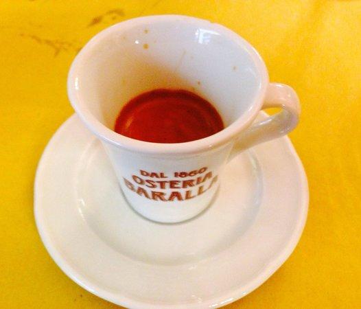 Osteria Baralla : Great espresso