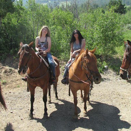 All done riding @ Jackson Hole Trail Rides