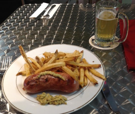 Bauernwurst And Freshly Cut French Fries