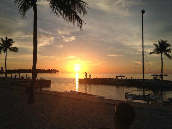 Tranquility Bay Beach House Resort: Sunset from Tiki bar