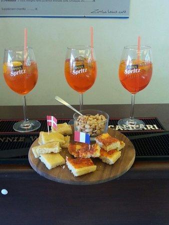 Zumba Beach Cafè : Apéritif italienne