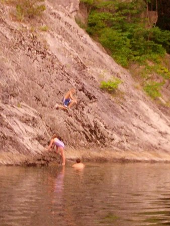Seneca Shadows: the kids loved the swimming hole