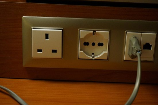 Holiday Inn Istanbul City: Electric Outlets