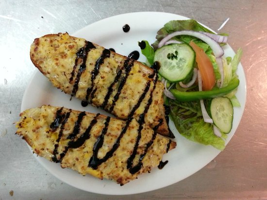 The Plaice Restaurant: Smoked Haddock Rarebit with Balsamic Glaze