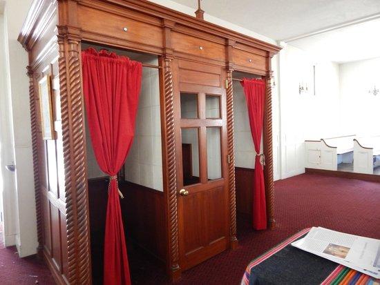 St. Stephen's Roman Catholic Church: confessional inside St. Stephen's