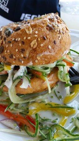 Boat Basin Cafe: great patty great salmon steak