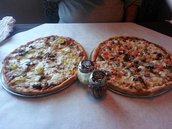The Brick Oven : Greek Pizza and Beef Shawma Pizza