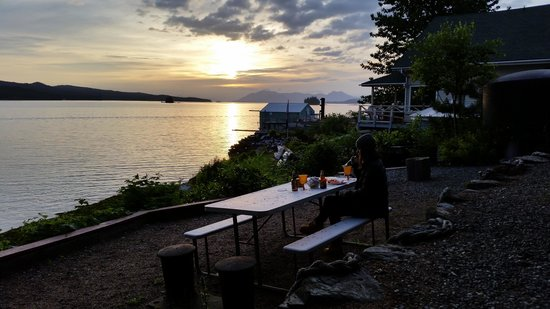 Sunset and BBQ at the Black Bear Inn!