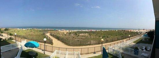 Dunes Court: from oceanfront balcony