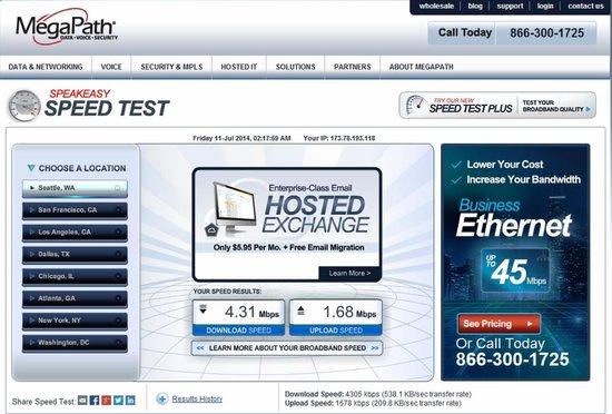 Quality Inn Airport: Free Wi-Fi - Internet Speed Test