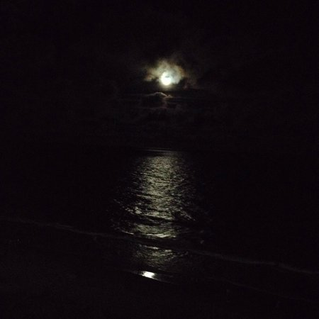 Carolina Winds: full moon over the ocean off of balcony ( unit 701)