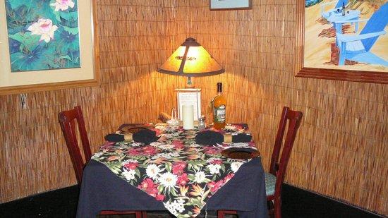 Bamboo Restaurant: Beautiful Table