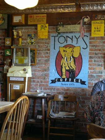 Tony's Just A Bite : some of the signs on the walls